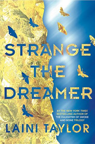 "The book cover for ""Strange the Dreamer"""