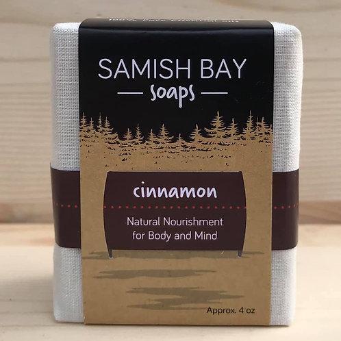 4-Ounce Fabric Wrapped Cinnamon Soap