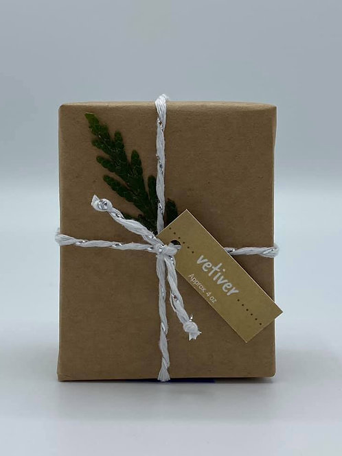 4-Ounce Paper Wrapped Vetiver Soap