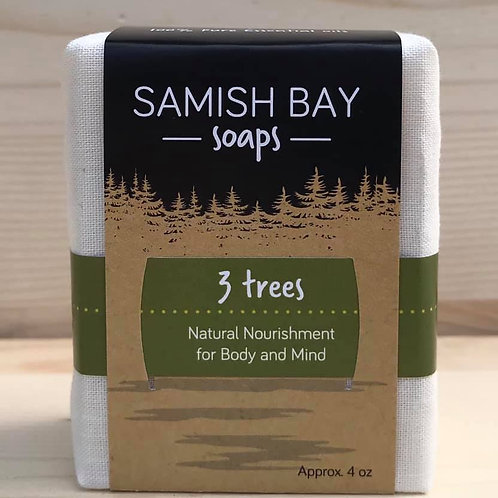 4-Ounce Fabric Wrapped 3 Trees Soap