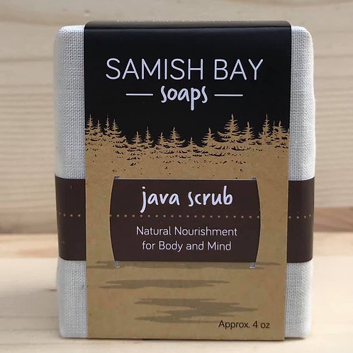 4-Ounce Fabric Wrapped Java Scrub Soap