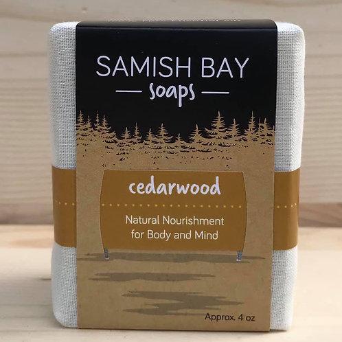 4-Ounce Fabric Wrapped Cedarwood Soap