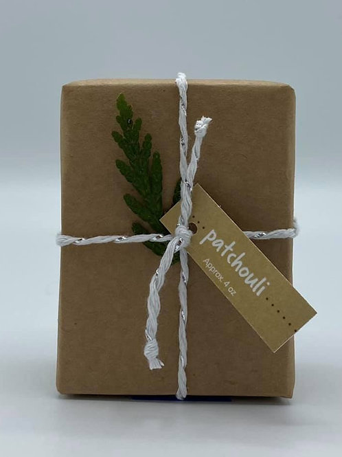 4-Ounce Paper Wrapped Patchouli Soap