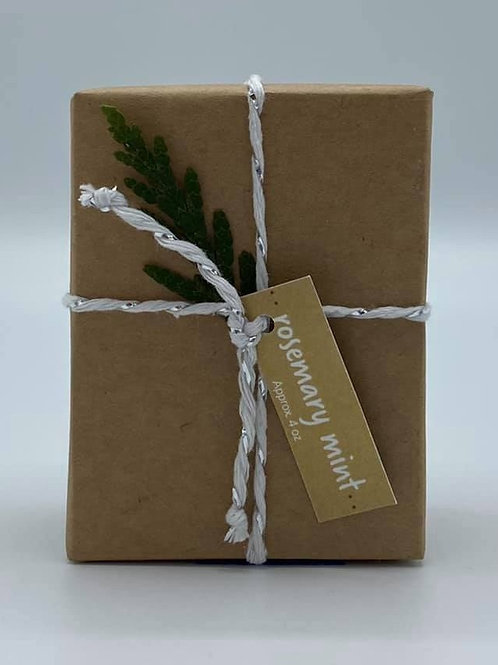 4-Ounce Paper Wrapped Rosemary Mint Soap