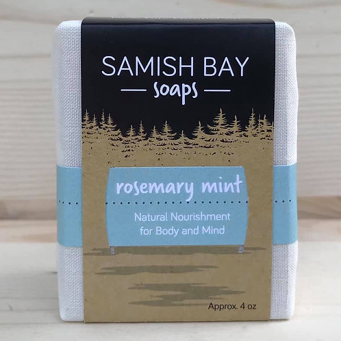 4-Ounce Fabric Wrapped Rosemary Mint Soap