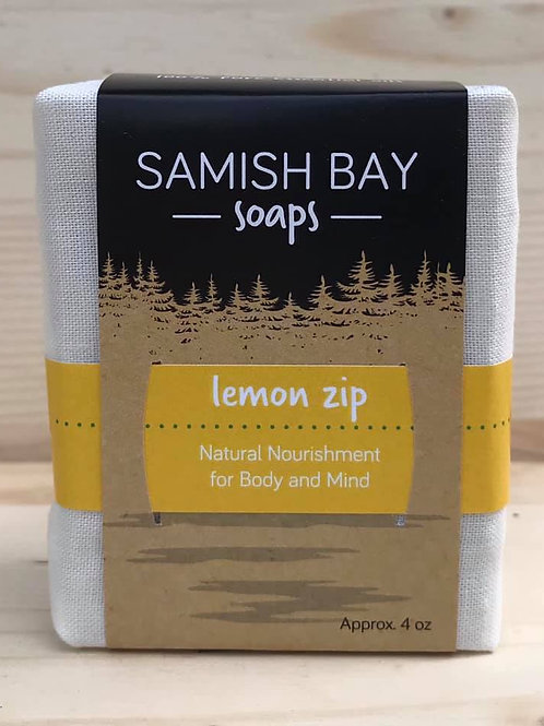 4-Ounce Fabric Wrapped Lemon Zip Soap