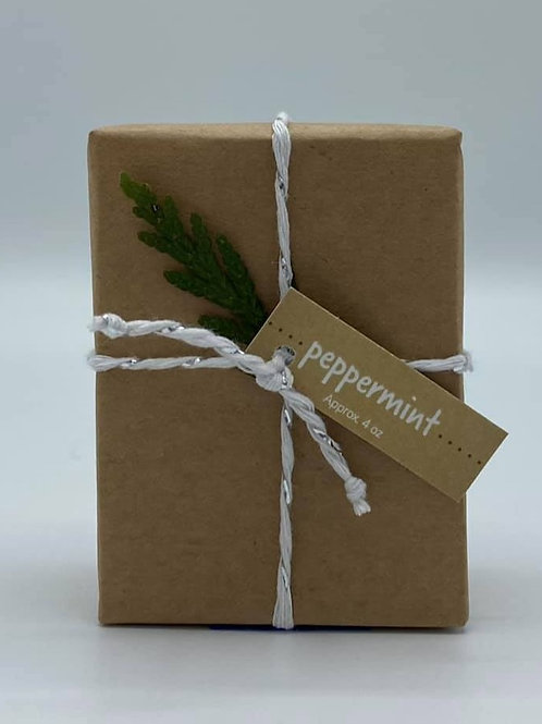 4-Ounce Paper Wrapped Peppermint Soap