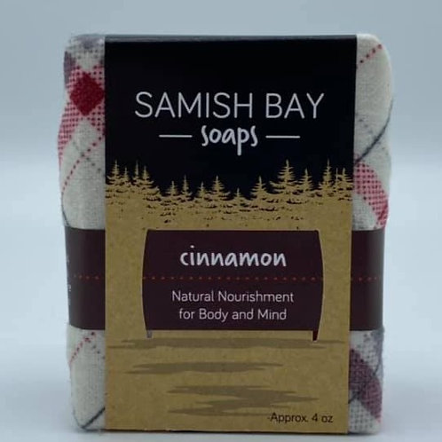 4-Ounce Holiday Flannel Cinnamon Soap
