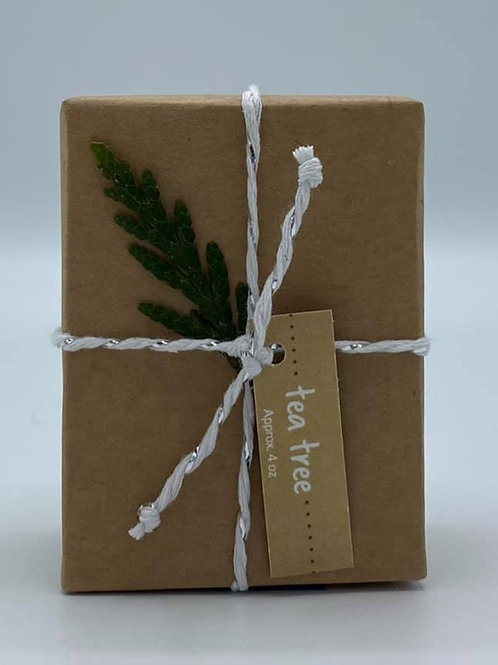 4-Ounce Paper Wrapped Tea Tree Soap