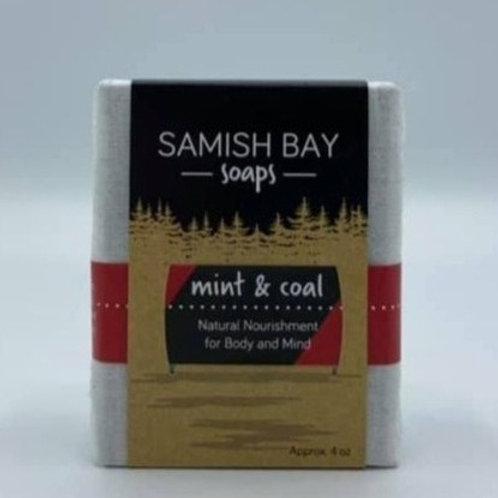 4-Ounce Fabric Wrapped Mint & Coal Soap