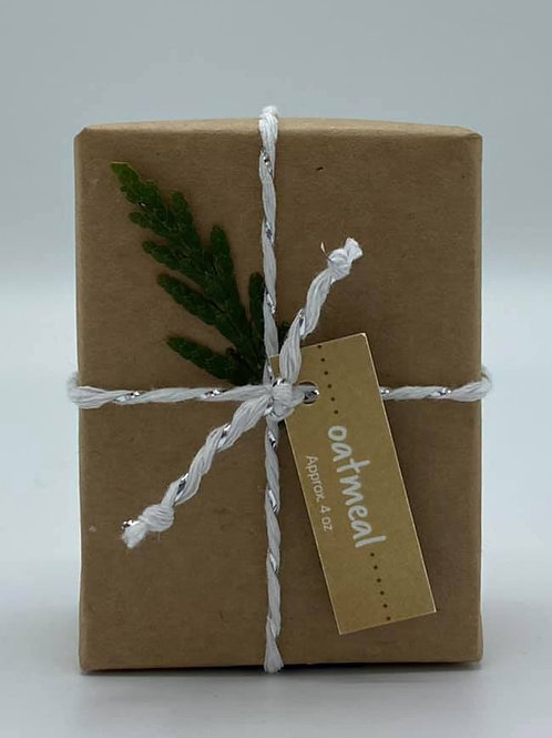 4-Ounce Paper Wrapped Oatmeal Soap