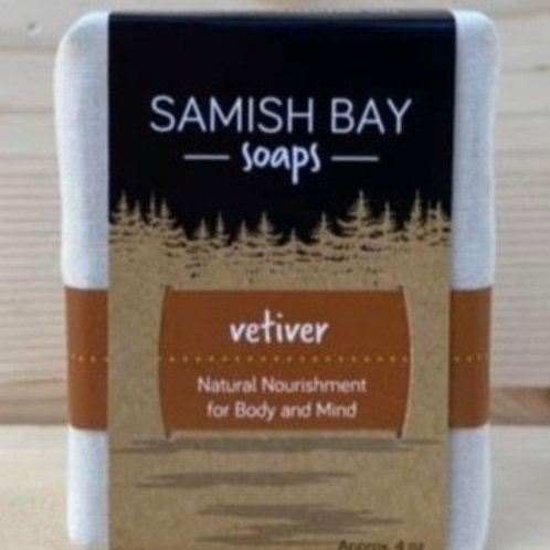 4-Ounce Fabric Wrapped Vetiver Soap