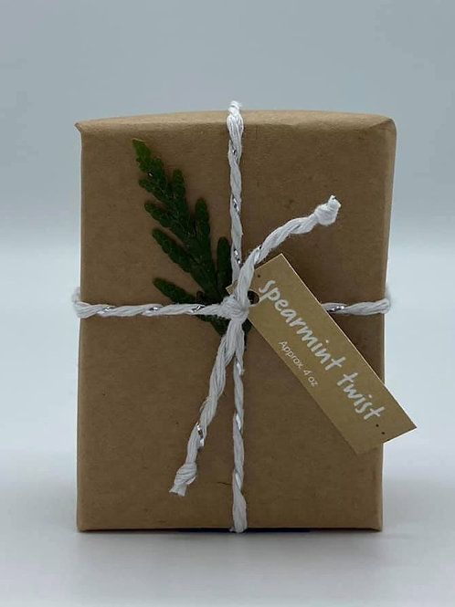 4-Ounce Paper Wrapped Spearmint Twist Soap