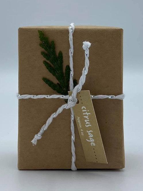 4-Ounce Paper Wrapped Citrus Sage Soap