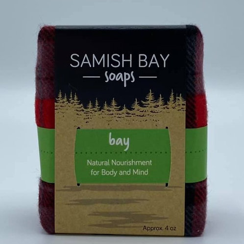 4-Ounce Holiday Flannel Bay Soap