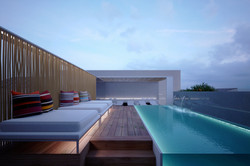 Hotel - top roof swimming pool