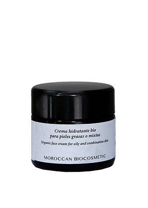 Crema hidratante para pieles grasas o mixtas bio (a base de aceite de argán)