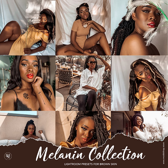 10 Melanin Collection - Presets for Brown Skin (For Mobile)