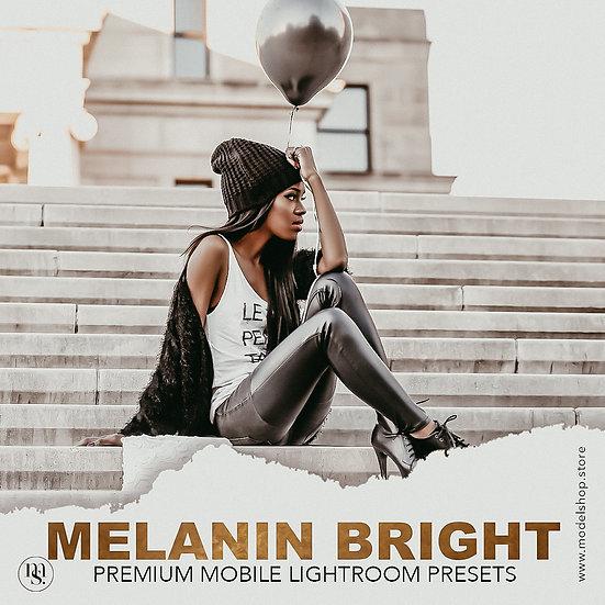 3 Melanin Bright Presets   Lightroom Mobile Presets, Best Influencer Brown Skin,