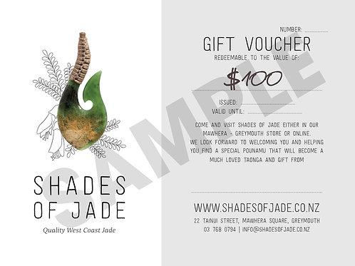Shades of Jade Gift Voucher