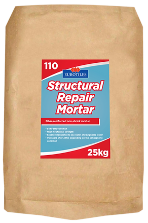 eurotiles repair mortar, repair mortar, structural mortar, structural repair mortar, fiber reinforced mortar, non shrink mortar, mortar