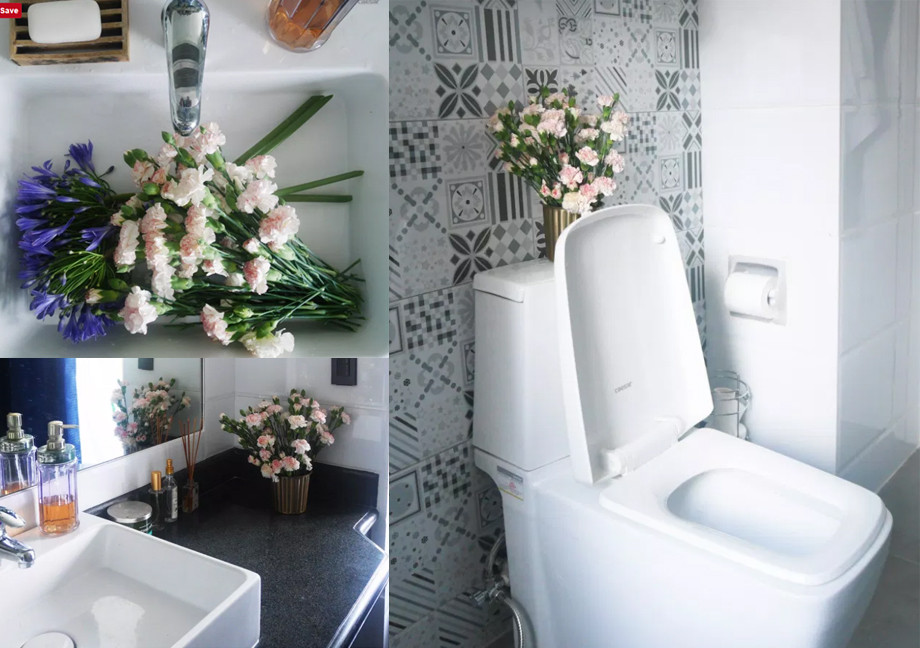bathroom, water closet, sink, faucet, bathroom fixtures, tiles