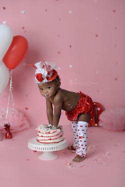 Valentine's day cake smash