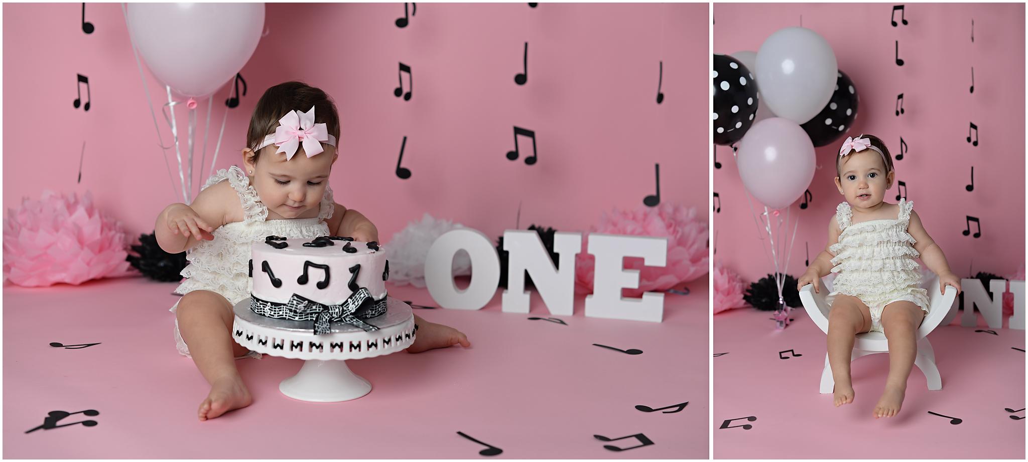 music cake smash