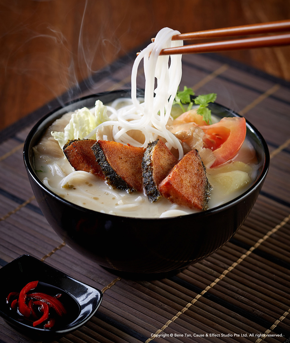 Coarse Vermicelli in Fish Broth