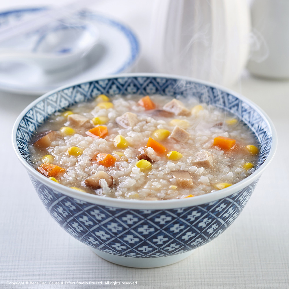 Mushroom and Sweet Corn Congee