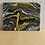 Thumbnail: Black White and Gold  Fluid Art