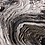 Thumbnail: Marble Black White and Gold Ring Fluid Art