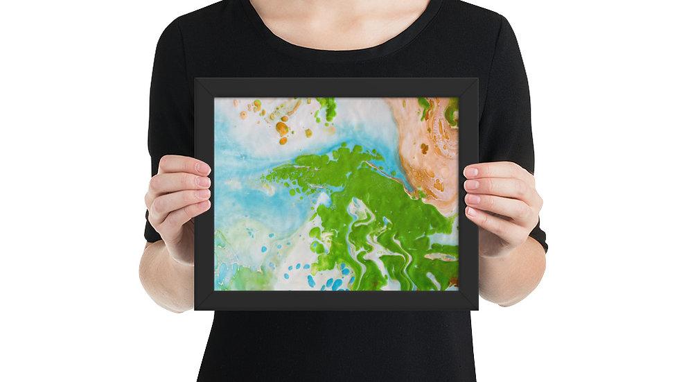 Framed photo paper poster