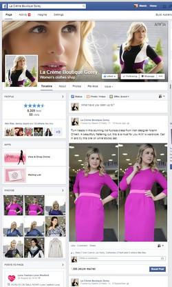 La Creme Boutique Facebook Page