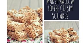 Marshmallow Toffee Crispy Squares