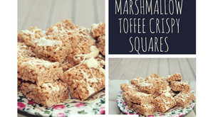 Marshmallow Toffee Crispy Squares