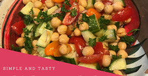 Chickpea Salad With A Honey & Mustard Dressing