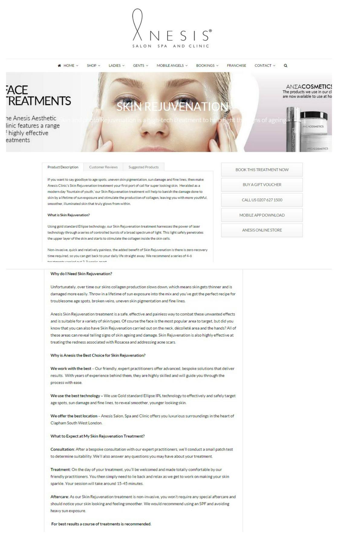 Anesis Clinic Web Copy