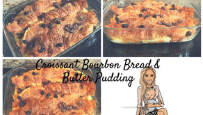 Croissant Bourbon Bread and Butter Pudding