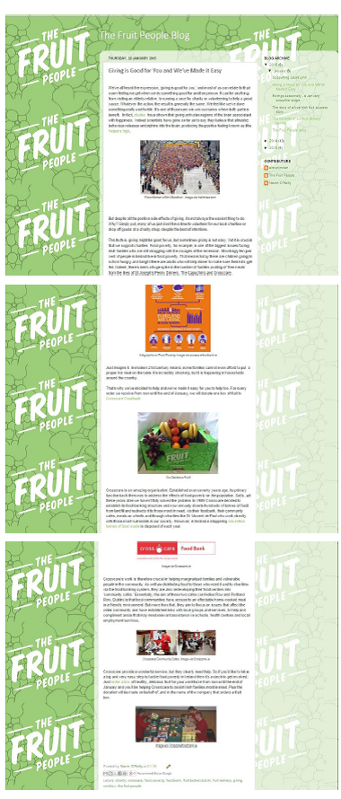 Blog post the Fruit People 22.1.15