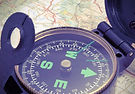 Compass sur la carte