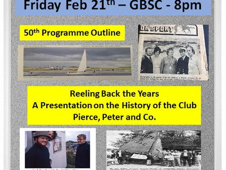 GBSC 50th Anniversary Launch Friday Feb 21st - GBSC - 8pm