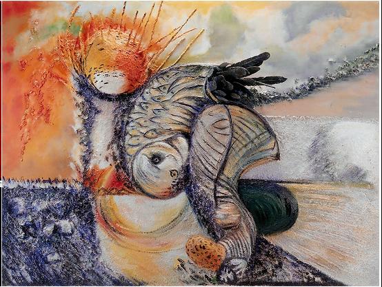 Icare Oiseau Couleurs Art Contemporain Paris France