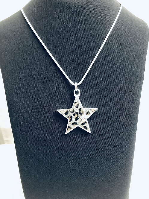 Animal Print Star Necklace
