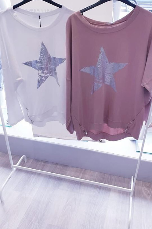 Metallic Star Top
