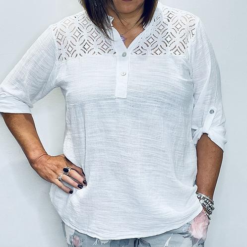 Cotton Lace Detail Shirt