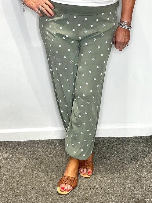 Daisy Print Trousers