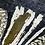 Thumbnail: Animal Foil Dipped Hem Linen Top