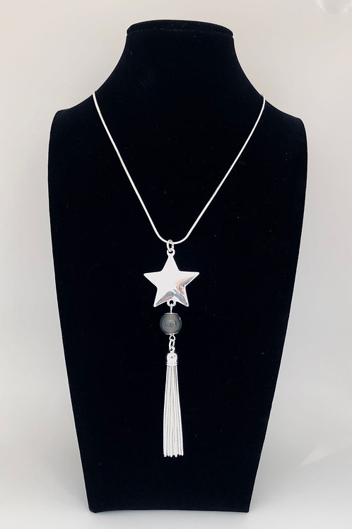 Star Bead and Tassel Necklace