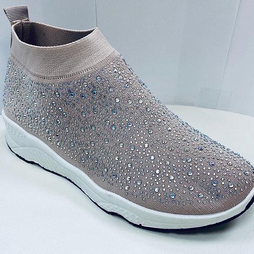 Diamanté Sock Trainers